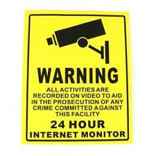 New Listing5x Security Camera Surveillance Sticker Cctv System Video Warning Decal Notice