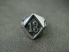 Silver Diamond 13 Thirteen Ring for Harley Motor Chopper Top Outlaw Biker 183