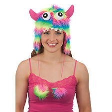 Striped Furry Horned Monster PInk Cute Sexy Funny Adult Hallloween Costume Hat