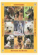 SCOUTING ANIMALS OF THE WORLD DOG REPUBLIQUE DU NIGER 1998 MNH STAMP SHEETLET