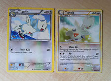 Pokemon TCG: 2x Togetic Cards, Black & White Dragons Exalted, Plasma Storm