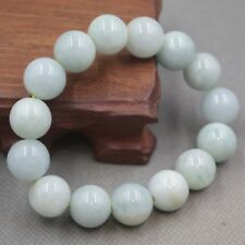 Real  100% A Grade Natural Jade/Jadeite Craved Lucky Beads Link Bangle Bracelet