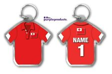 Personalised TONGA Rugby Team Supporters Jersey Shirt Keyring