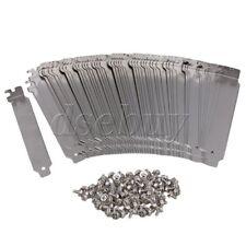 100PCS Anti Dust Bracket Ruffled PCI Slot Cover w/ Screw Stainless Steel
