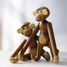 1pc Creative Wood Monkey Doll Cute Home Hanging Decor Kids' Gift New 7.87 Inches