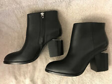 Alexander Wang ankle boots Gabi black leather Rhodium Sz 39