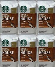 Starbucks DECAF House Blend Ground Coffee (6) 12 oz bags Medium Roast BB 05/2020