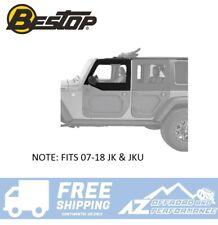 Bestop Front OE Style Black Twill Upper Door Set For 07-18 Jeep Wrangler JK JKU