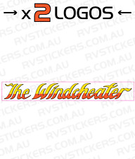 2 x WINDSOR Windcheater l Caravan decal, sticker, vintage, graphics 570mm x 80mm