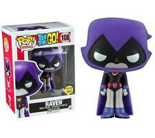 Teen Titans Go! Raven Purple Glow in Dark Exclusive Pop! Vinyl Figure Funko #108