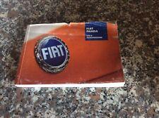 Libretto Istruzioni Fiat PANDA Manuale Uso E Manutenzione Anno 2003