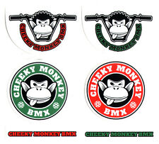 Cheeky Monkey BMX Videos Sticker Pack - 6 Stickers - bmxing bikes cycles new