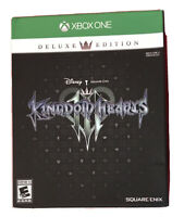 Kingdom Hearts III Deluxe Edition Xbox One Game 3+steelbook/collector's Box