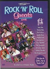 ROCK 'N' ROLL GREATS LIVE DVD - JOEY DEE, TOMMY ROE, THE CRICKETS & MANY MORE