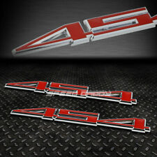 2X METAL BUMPER TRUNK GRILL EMBLEM DECAL STICKER BADGE CHROME/RED 454 LS6 C3 7.4