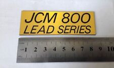 JCM 800 LEAD series Marshall plastic logo badge gold color 85 mm= 3 3/8'' inch