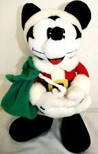 "Disney Gund Santa MICKEY MOUSE Plush Stuffed Animal 13"" tall Christmas"