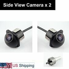 Pair Car Auto Side View Mirror Mount Cameras Mirrored Image 20mm Hole Drilling