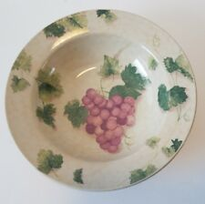 "Fairfield Stoneware GRAPE VALLEY 8 1/2"" Soup Cereal Pasta Bowls Discontinued"