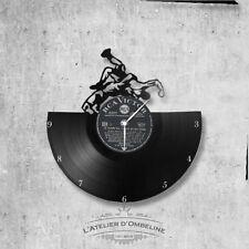 Horloge en disque vinyle 33 tours thème Lutte