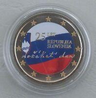 """2 Euro Slowenien 2016 """"25 Jahre Unabhängigkeit"""" in Farbe unz"""