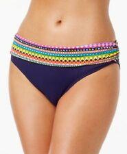 e3a58fec320 Anne Cole Foldover Waist Bikini Swim Bottom Multi Color Size Small