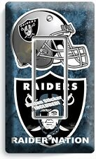 OAKLAND RAIDERS NATION NFL FOOTBALL TEAM SINGLE GFCI LIGHT SWITCH WALL PLATE ART