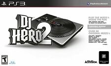 NEW PS3 DJ Hero 2 Turntable Bundle PlayStation Lady Gaga Kanye West Flo Rida +