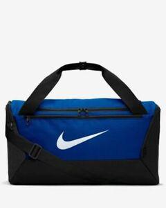 Nike Brasilia Duffel Bag Gym Training Small Royal Blue / Black BA5957-480 NWT