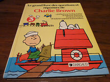 Hard Cover Book Le Grand Livre des Questions et Réponses de Charlie Brown No. 3