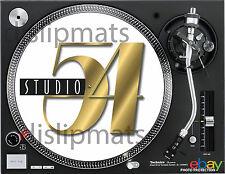 "Pair (2) Ltd.Edition STUDIO 54 12"" or 7"" DJ SLIPMATS Kaczor Siano Benitez disco"