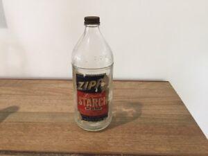 Vintage ZIPPY Liquid Starch Glass BOTTLE