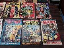 lot of 13 silver and bronze age sgt fury and his howling commandos comics