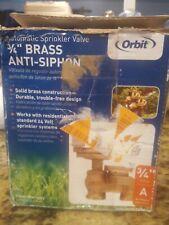 Orbit Heavy Duty 3/4 in. Brass Anti-Siphon Automatic Sprinkler Valve 57065 *