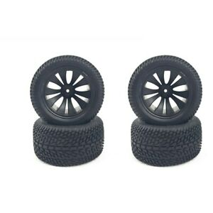 for HBX 1/12 High Speed RC Car Tires Rubber Wheel Complete for Truck 12056