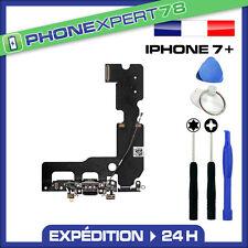 NAPPE DOCK DE CHARGE + MICRO POUR IPHONE 7 PLUS NOIR + KIT OUTILS