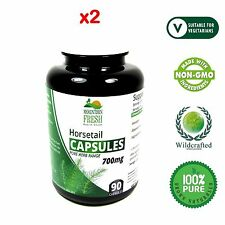 Organic Horsetail Equisetum Arvense Pure Herb Capsules 180 X 700mg