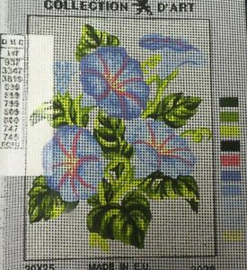 BLUE & PINK FLOWER BUNCH - NEW TAPESTRY to Stitch - Collection D'Art