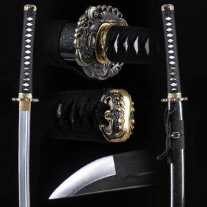 Battle ready Iaido sword Samurai Sword Katana Battle Steel w Clay Tempered #603