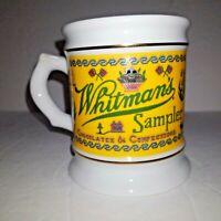 VINTAGE 1984 WHITMAN'S SAMPLER COFFEE MUG PORCELAIN Great Advertising