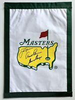 arnold palmer signed Masters flag big 3 nicklaus player 2021 masters beckett loa