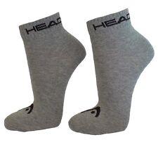 9 Paar SPARPACK Unisex HEAD Quarter 1/4 Schaft Sneaker Socken Invisible Grau