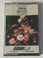 Chopin Waltzes Peter Katin Audio Cassette 1979 London Records Treasury Series