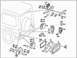 Genuine MERCEDES W463 G-CLASS Cabrio Rear Fog Light 0009065104