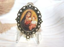 Custom Bronze Rosary Center Part/Color/ Rosary Making/Jesus/Mary/Eucharist
