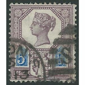 Great Britain - Victoria - 1887 - SG207 - 5d - Die I - USED - CV, £120