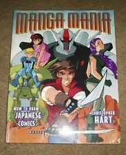 Manga Mania How to Draw Japanese Comics by Christopher Hart 2001 FREE SHIPPING