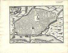 Antique map, Rouen