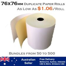 76x76 mm DUPLICATE - CARBONLESS RECEIPT PAPER ROLLS (As low as $1.06 per roll)