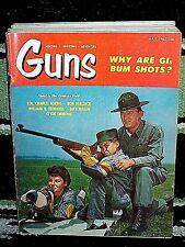 GUNS 5/1962~MUZZLE LOADING REVOLVER CARE~BERETTA M-1915~TOKAREV M1940~1860 ARMY